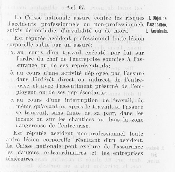 Article 67 de la LAMA de 1911